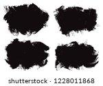 set of brush stroke backgrounds.... | Shutterstock .eps vector #1228011868
