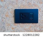 outlet with built in usb ports  ... | Shutterstock . vector #1228012282