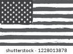 black and white american flag... | Shutterstock .eps vector #1228013878