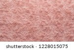 pink natural wool with twists... | Shutterstock . vector #1228015075