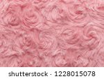 pink natural wool with twists... | Shutterstock . vector #1228015078