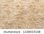 beige natural wool with twists... | Shutterstock . vector #1228015138
