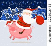 merry christmas and happy new...   Shutterstock .eps vector #1228016485