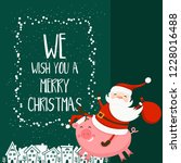 merry christmas and happy new...   Shutterstock .eps vector #1228016488