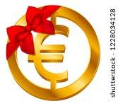 vector money euro sign  euro... | Shutterstock .eps vector #1228034128