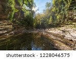 stream in a rocky canyon... | Shutterstock . vector #1228046575