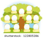 vector family tree from the... | Shutterstock .eps vector #122805286