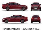 realistic car. sedan. front... | Shutterstock .eps vector #1228054462