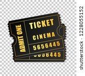 realistic two black cinema... | Shutterstock .eps vector #1228055152