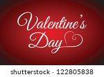 valentine's day type text   Shutterstock .eps vector #122805838