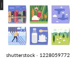 simple things   cards   flat... | Shutterstock .eps vector #1228059772