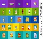 big set of different food ... | Shutterstock .eps vector #1228059835