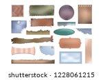torn scrap paper set for... | Shutterstock .eps vector #1228061215