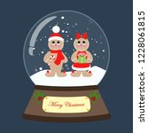 christmas snow globe with... | Shutterstock . vector #1228061815