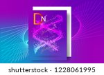 purple background with dna.... | Shutterstock .eps vector #1228061995