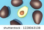 art concept of vitamin e.... | Shutterstock . vector #1228063138