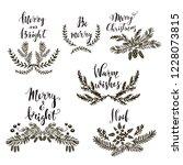 set of hand drawn christmas... | Shutterstock .eps vector #1228073815