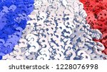 the flag of france made of... | Shutterstock . vector #1228076998