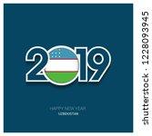 2019 uzbekistan typography ...   Shutterstock .eps vector #1228093945