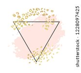 abstract geometric vector... | Shutterstock .eps vector #1228097425