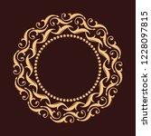 gold decorative frame. vector...   Shutterstock .eps vector #1228097815