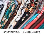 stripe textiles. beautiful... | Shutterstock . vector #1228103395