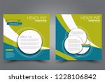 square flyer design. a cover... | Shutterstock .eps vector #1228106842