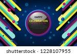 celebration background design... | Shutterstock .eps vector #1228107955