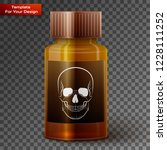 medicine bottle with poisonous... | Shutterstock .eps vector #1228111252