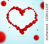 hand drawn vector valentine... | Shutterstock .eps vector #1228111255