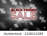 sale concept banner. black... | Shutterstock .eps vector #1228111285