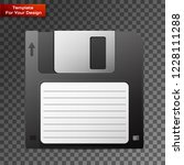 diskette on transparent... | Shutterstock .eps vector #1228111288