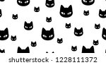 cat seamless pattern vector... | Shutterstock .eps vector #1228111372