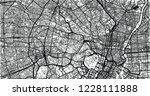 urban vector city map of tokyo  ... | Shutterstock .eps vector #1228111888