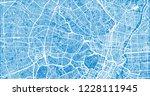 urban vector city map of tokyo  ... | Shutterstock .eps vector #1228111945