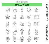 halloween line icon set   25... | Shutterstock .eps vector #1228112245