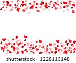red hearts frame | Shutterstock .eps vector #1228113148