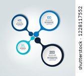 round numbered template  scheme.... | Shutterstock .eps vector #1228117552