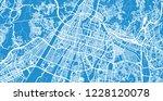 urban vector city map of... | Shutterstock .eps vector #1228120078