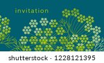 abstract geometric dill or... | Shutterstock .eps vector #1228121395
