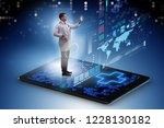 telehealth concept with doctor... | Shutterstock . vector #1228130182