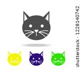 cat multicolored icon. element... | Shutterstock .eps vector #1228140742