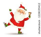 christmas  cute  funny santa... | Shutterstock .eps vector #1228155412