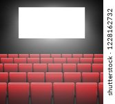 movie cinema screen with red... | Shutterstock .eps vector #1228162732