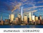 new york city financial... | Shutterstock . vector #1228163932