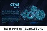 gears of blue glowing dots.... | Shutterstock .eps vector #1228166272