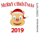 symbol of 2019 yellow earth pig ... | Shutterstock .eps vector #1228171075