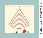 christmas card inspired by... | Shutterstock .eps vector #1228171555