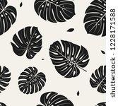 black and white seamless...   Shutterstock .eps vector #1228171588