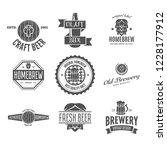 set of vintage logo  badge ... | Shutterstock .eps vector #1228177912